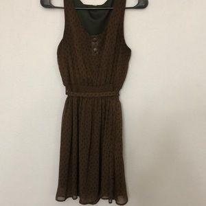 Short, brown dress